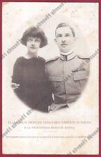 UMBERTO DI SAVOIA 47 PRINCIPESSA MARIA Cartolina viaggiata 1924