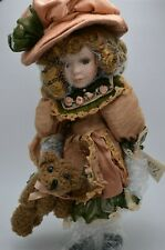 "Vintage Broadway Collection Bisque Porcelain Doll 12"" Coa"