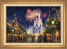 Thomas Kinkade Main Street 28 x 42 LE S/N Canvas (Gold Frame) Disney World