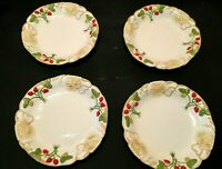 "MOTTAHEDEH MUSEUM REPODUCTIONS Set of 4 Coupe Soup Bowls 8 1/4"" Strawberry MINT"