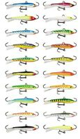 Rapala Jigging Rap W9 Ice Jig 3 1/2 inch - 7/8 oz UV & Standard Ice Fishing Jigs