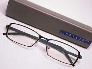 Lindberg Blue Titanium Lightweight Modern Eyeglasses Frames Made in Denmark