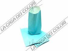 BUSTE IN CARTA - COLORE AZZURRO - 12x23+3,5cm - 10 PEZZI
