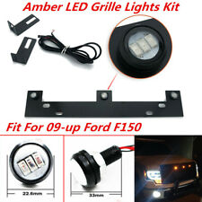 Amber LED Grille Lights Kit w/ Steel Mounting Bracket Fit For 09-up Ford F150