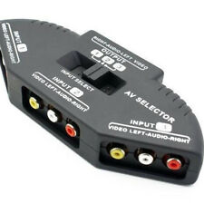 3-Way Useful Audio Video AV RCA Switch Box Composite Splitter with 3-RCA Cable