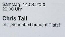 Tickets Chris Tall Stuttgart 14.03.20 Sitzplätze Eintrittskarten Karten