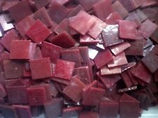 Stained Glass Mosaic Tiles - 25 ct - 3/4 inch Red-Brown Opalescent - Dti