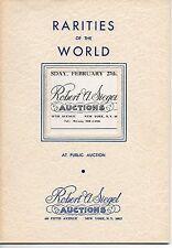 Robert Siegel Auction Galleries Rarities of the World Stamp Auction Catalog Run!