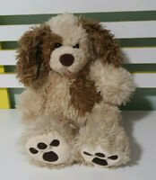 BUILD A BEAR DOG  BROWN WITH BROWN PATCH ON TUMMY BAB 40CM DOG TOY