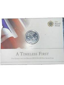 2013 St George and the Dragon £20 Twenty Pound Silver Coin Mint Pack Sealed