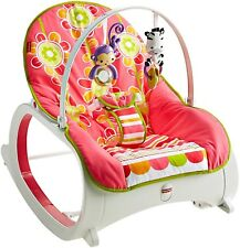 Fisher-Price Infant Toddler Girls Rocker Swing Bouncer Portable Seat Sleeper New