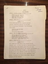 Elvis Presley PERSONAL script for Milton Berle TV 4/3/56 appearance!