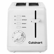 Cuisinart CPT-122 Compact 2 Slice Bread and Bagel Toaster-White