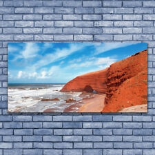 Tulup Wandbilder Glasbilder Dekobild 140x70 Meer Landschaft