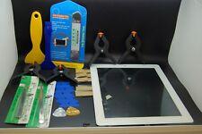 Conjunto de Digitalizador Ipad 4 blanco de repuesto y herramientas, botón de inicio & Adhesivo instalado