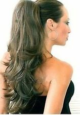 Womens Dark mix Medium Brown HAIR PIECE Ponytails Extension
