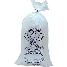 "13.5"" x 28"" 2 Mil Clear 20 LB Pound Twist Ties  Plastic Ice Bags 500 Pc"