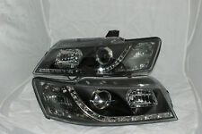 Black Projector Headlights for Holden Commodore All VZ Models NEW LED DRL Like
