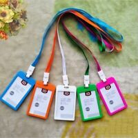 Business ID Badge Lanyard Name Tag Holder Belt Office Work Neck Strap Key Card