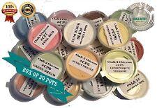 #P20 - Craft Palette - sample BOX of 20 pots chalk based paint COLOURS 20 x 30ml