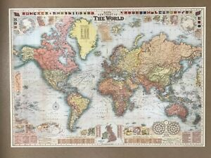 Map of the World - poster, vintage style, decorative