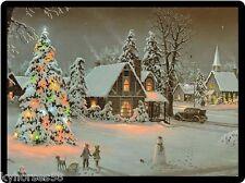 Christmas Cottages Refrigerator Magnet