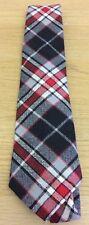 BRAND NEW BLACK GREY RED TARTAN 100% Pure Wool Tie Quality HOGMANAY Scotland