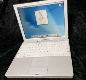 Retro Apple iBook M6497 2001 Vintage PowerPC G3 Laptop Computer MacOS PowerBook