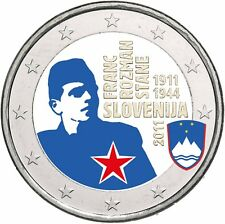 Slowenien 2 Euro 2011 Franc Rozman Stane Gedenkmünze bankfrisch in Farbe