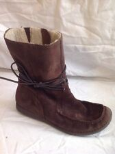 Clarks Brown Ankle Suede Boots Size 4