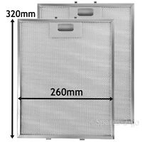 2 Metal Mesh Filters For LEISURE Cooker Hood Vent filter 320 x 260 mm