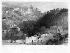 Enna, Sizilien,, Italien, Original-Stahlstich von 1862