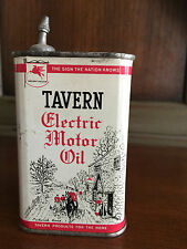 Vintage Rare TAVERN ELECTRIC MOTOR OIL~ SOCONY VACUUM OIL CO. 8oz. Oil Can Tin