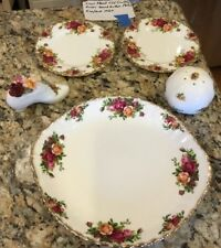 Vintage 1962 Royal Albert Old Country Roses Serving Platter  + 4 Other Pieces
