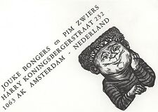 Lou Strik : Opus 352, Address card Jouke Bongers and Pim Zwiers