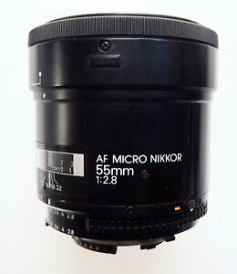 Nikon AF Micro Nikkor 55mm 1:2.8 lens, very good