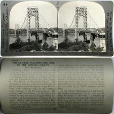 Keystone Stereoview GEORGE WASHINGTON BRIDGE, NY to NJ 600/1200 Card Set Type A