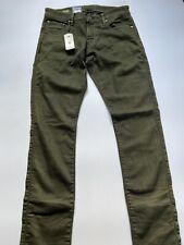 G Star Raw Revend Jeans Mens Size UK W34 L36 Super Slim DK Bronze Green BNWT