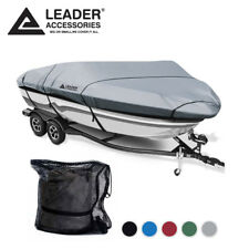 Leader Accessories 600D Trailerable V-hull Tri-hull Boat Cover 22-24' Beam 116''