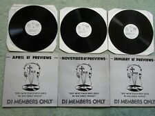 DJ Members Only DMC previews Disco Mix Club Jan April Nov 1987 Vinyl x 3 Albums