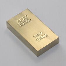 1 Kg 1000 Gramm ESG Messingbarren Messing Brass Anlage Investment Metalle