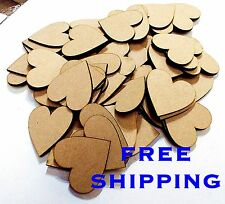 BUMPER  200   PACK 50mm plain HEARTS Great Deal scrapbooking charm Embelishments