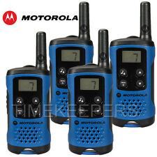 4 KM Motorola TLKR T41 Walkie Talkie 2 due vie PMR 446 Set Radio COMPATTO QUAD