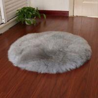 Nachahmung Schaffell Teppich 30 × 30cm Teppich weichen flauschigen langen H R4S9