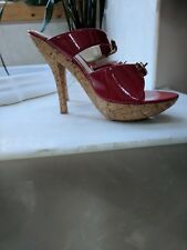 WOMENS WILD PAIR DIVA DNA HIGH HEEL SHOES **EXCELLENT** SEXY RED SIZE 6