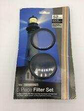 Vivitar 52mm 5 Piece Filter Set,UV/CPL Filter,Cap Keeper,Lens Cap,Filter Case