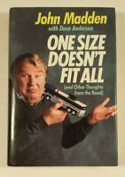 JOHN MADDEN - One Size Doesn't Fit All (1988, First Edition, Hardcover Book)