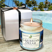 Handmade Caribbean Dream Soy Candle 4oz AMAZING SCENT! Gift Box Free Shipping!
