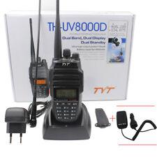 TYT TH-UV8000D 10W 3600MAH U/VHF Transceiver Cross-band 2-Way Radio + Eliminator