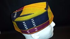 Fez ,Kufi  ,men's hat Kente pattern on cotton blend new large  size 23 in. 7 3/8